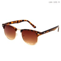 New Arrival 2014 Womens and Mens Sunglasses 1305 High Quality Half Frame Multi Colors rb Sunglasses Free shipping