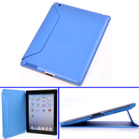 Cheapest  Business Special Standing PU & Anti-SKidding Case for IPAD 2 3 4