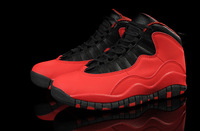 10 X RETRO GS FUSION RED men shoes
