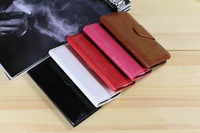 DHL New Hot Luxury Shiny Oil Leather Stand Book Flip Cover Wallet Style Case Flip Cover For S4 I9500 50pcs/lot Free Shipping