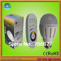 Free shipping, can be wifi and remote control, remote control 6w RGBW bulb ( 1 pc 6W bulb+1 2.4G remote control per kit )