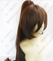HOT~Working Taneshima Popura long Brown 100cm clip ponytail Cosplay wig