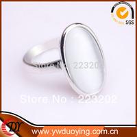 2014 Fashion Jewelry White Opal aneis Ouro Platinum Plated aliancas de casamento Bijoux anel de prata Rings For Women WNR638