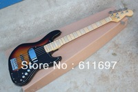 Free shipping 2014 new + factory + FD st jazz bass electric guitar marcus miller 5 strings jazz bass strings thru body jazz bass