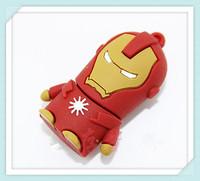 Hot !! USB flash drive Creative Design Iron Man  Data Storage pen drive 8GB/ 16GB/ 32GB/ 64GB/ USB Flash memory stick