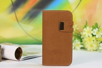 Squirrel Style Stand Book Cover Wallet Leather Case for Samsung Galaxy S4 i9500 With Buckle Free Shipping
