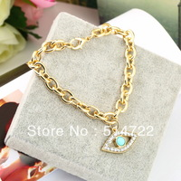 1pcs Fashion New Unique Chain Rhinestone Eye Women Elegant Jewelry Bracelet hot selling