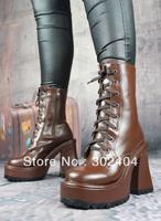 New arrival school uniforms boots punk martin boots thick heel women's boots