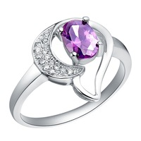 Purple Cubia Zircon CZ Simulated Diamond Ring for Women Vintage Jewellery Epic Sale Promotion Christmas Gifts