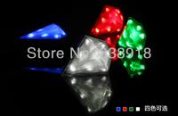 3pcs/lot Newest Arrive 8-leds LED rechargeable Bicycle Bike Laser warning tail lights Safety lifeline diamond appearance design