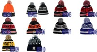 Free shipping-Wholesale US&Canada Baseball Beanies,Sports Wool hats,20Pcs/Lot