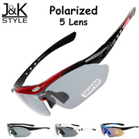 High Quality Polarized 5 Lens Cycling Goggle with Myopia Frame Bicycle Glasses Bike Sunglasses Motorcycle Sports Sun Glasses