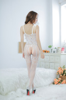 XL-015Women Sexy Costumes Lace Mesh Net  Jumpsuits Bodystockings Open Crotch  Sexy Lingerie  Transparent Free Shipping