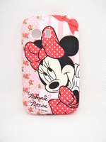 Cute cartoon Minnie shell for Samsung GALAXY Y S5360  High Quality Cell Phone Case Silicone