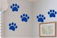 Free shipping Bear Paw Print Kid Bedroom Living Room Decor Mural Art Vinyl Wall Sticker HomeWindow Decoration Decal WallStickers