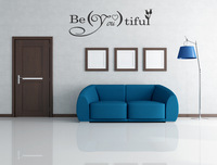 Free shipping!!   BE YOU TIFUL Quote Vinyl Wall Decal Lettering Decor Sticker Nursery BEAUTIFUL