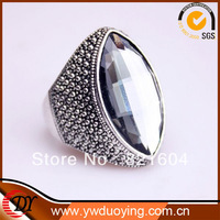 2013New Retail Free Shipping Hot Sales Fashion Silver Plated Big Stone Rings For women Jewelry  WNR645
