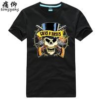 100% T-shirt short-sleeve cotton shirt plus size available guns n roses - 1  100% Cotton custom logo 100% Cotton custom logo