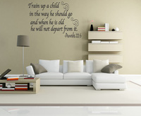 Free shipping!!    TRAIN UP A CHILD Word Wall Quote Decal Proverbs 22:6