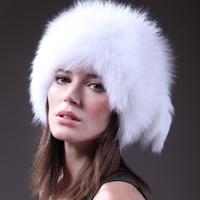 2013 Winter, 100% Genuine Fox Fur Cap, Real Natural Knitted Fox Fur Hat