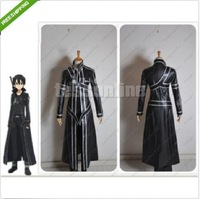 Free shipping New Sword Art Online Kirito Kazuto Kirigaya Cosplay Costume - Custom Made