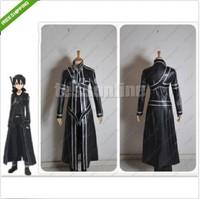 Free shipping New Sword Art Online Kirito Kazuto Kirigaya Cosplay Costume - Custom Made