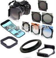 77mm ring Adapter+ lens hood + ND2/ND4/ND8+ Graduated Orange Blue grey square Filter for Cokin p series +tracking number