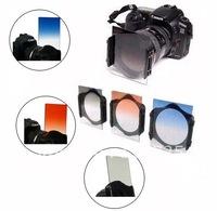 3in1Gradual Blue + ND4 + Orange/Sunset Sunrise  Color Filter for Cokin P series