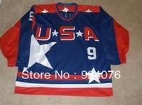 USA Mighty Ducks Jerseys Jesse Hall #9 - Can Custom Any Number, Any Name Sewn On (XXS-6XL)