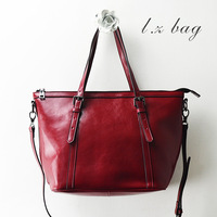 Leather brief bag strap decoration casual one shoulder cross-body women's genuine leather handbag