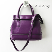 2013 women's genuine leather handbag vintage preppy style one shoulder cross-body handbag