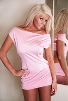 Retail-1pcs-Factory supply Pink Clubwear Dress Feels Smooth With G-string Free Shipping Wholesale 012 N012