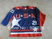 USA Mighty Ducks Jerseys Dean Portman #21 - Can Custom Any Number, Any Name Sewn On (XXS-6XL)