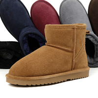 Winter lovers 5854 snow boots short boots cowhide wool one piece cow muscle outsole waterproof thermal Women male boots