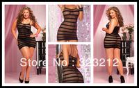 Hot black bizarre strap plus size lingerie, plus size underwear,sexy babydoll