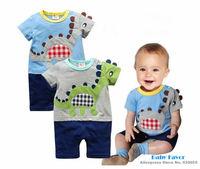 Free Shipping 1Pc Newborn Baby Boy Kid Toddlers Children Infant Animal Cartoon Dinosaur Dragon Romper Jumpsuit Clothes One Piece