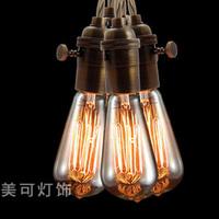 Vintage iron pendant light bulb loft