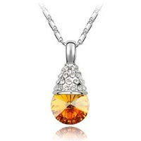 Austria crystal accessories exquisite drop necklace fresh