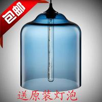 American personalized multicolour glass pendant light bedroom lamp lamps
