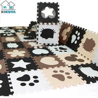 Black and white fashion black and white jigsaw puzzle mats fashion eva foam board 30