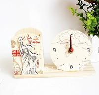 European style pen holder clock