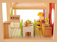 Hape fashion four seasons 3 toys doll house furniture