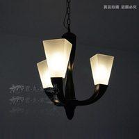 American style lamp horn pendant light id