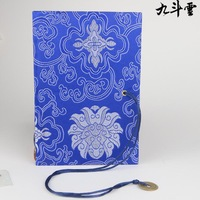 Chinese style jacquard tapestry Large coins bookmark notebook three-color foreign affairs gifts