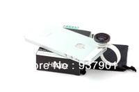 5pcs/lot Retail H8002 Circle Clip Fisheye Lens Fish Eye Lens for Universal Mobile Phone Free shipping