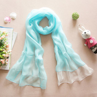 Female spring and autumn long design silk scarf cape scarf magicaf silk mulberry silk scarf muffler scarf double layer