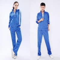 Spring and autumn sportswear sports set lovers casual outerwear student school uniform set
