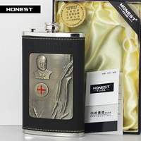 Thickening 10oz Jack Daniels Stainless Steel Pocket Flask Russian Hip Flask Male Small Portable Mini Shot BottlesFree Shipping