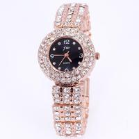 Relojes rhinestone watches rose gold full diamonds designer good quality round quartz fashion watch women famous brand 2013