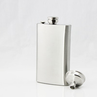 Oz 6 Euchromatin Paintless Steel Russian Pocket Flask Stainless Steel Hip Flask Male Mini Shot Funnel Bottles Free Shipping